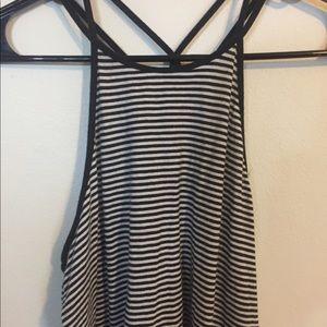 Hollister stripped sleeveless shirt medium